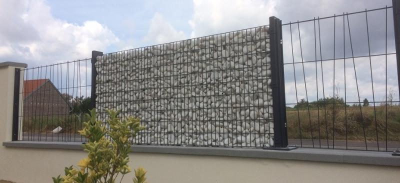 Kit cl ture gabion mural design et moderne for Portillon hauteur 1m80