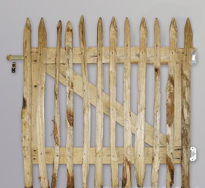 Portillon ganivelle bois cl ture et grillage for Portillon hauteur 1m20